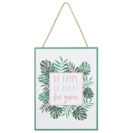 Tropical Hanging Plaque - Be Happy