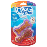 Hartz Chew 'n Clean Dog Toy Treats - Bacon