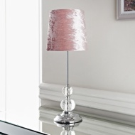 Blush Crystal Table Lamp