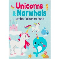 Unicorns & Narwhals Colouring Book