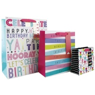 Size Assorted Gift Bags 3pk - Happy Birthday