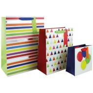 Size Assorted Gift Bags 3pk - Stripes