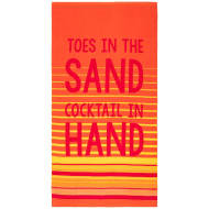 Printed Alcohol Beach Towel - Cocktails
