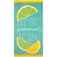Printed Alcohol Beach Towel - Gin