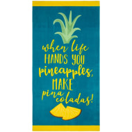 Printed Alcohol Beach Towel - Pina Colada
