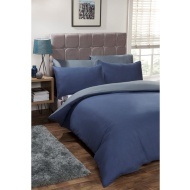 Silentnight Reversible Double Duvet Set - Navy