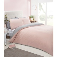 Silentnight Reversible Double Duvet Set - Blush
