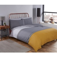 Block Stripe King Duvet Twin Pack - Ochre