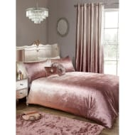 Karina Bailey Ombre Velvet Double Duvet Set - Blush