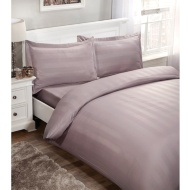Silentnight Satin Stripe Complete King Set - Blush