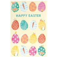 Colourful Eggs - Easter Card