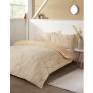 Willow Pipe Double Duvet Set - Ochre