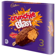 Cadbury Crunchie Blast Ice Cream Sticks 3pk