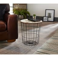 Tromso Basket Side Table