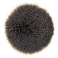 Mongolian Faux Fur Cushion - Grey