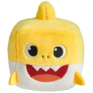 Plush Baby Shark Cube - Yellow