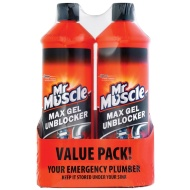 Mr Muscle Max Gel Drain Unblocker 2pk