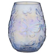 Butterfly Glass Jar - Blue