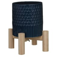 Honeycomb Planter with Wooden Legs