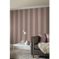 Decoris Stripe Wallpaper - Chocolate & Rose Gold