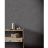 Herringbone Texture Wallpaper - Charcoal