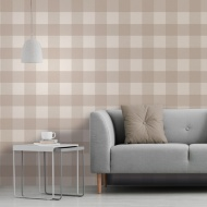 Glamorous Check Wallpaper - Natural