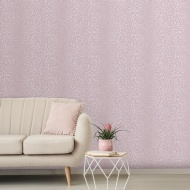 Glamorous Fur Wallpaper - Rose