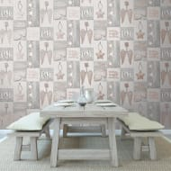 Starlight Home Wallpaper - Rose Gold