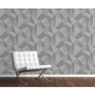 Milano 8 Large Fractal Wallpaper - Mid Grey