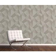 Milano 8 Large Fractal Wallpaper - Stone