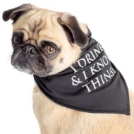 Game of Thrones Dog Bandana - I Drink & I Know Things