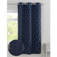 "Glow in the Dark Blackout Panel 46 x 72"" - Navy Stars"
