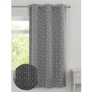 "Glow in the Dark Blackout Panel 46 x 72"" - Grey Stars"