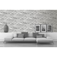 Glitter Brick Wallpaper - Charcoal