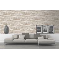 Glitter Brick Wallpaper - Natural