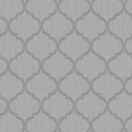 Crystal Trellis Wallpaper - Silver