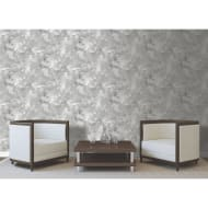 Metallic Marble Shimmer Wallpaper - Silver