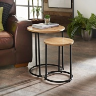 Tromso Round Nest of 2 Tables