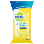Dettol Clean & Fresh Multi Purpose Wipes - Lemon & Lime