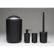 Bathroom Accessories Set 4pc - Black