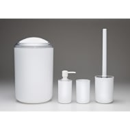 Bathroom Accessories Set 4pc - White