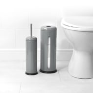 Beldray Ribbed Toilet Brush & Roll Holder Set - Grey