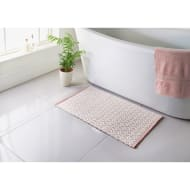Diamond Woven Bath Mat - Blush