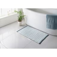Diamond Woven Bath Mat - Denim