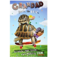 Father's Day Card - Grandad Tortoise