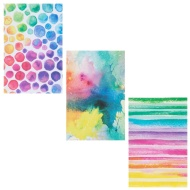 Fashion Notebooks 3pk - Watercolour