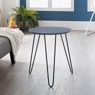 Malvern Hairpin Leg Side Table - Grey