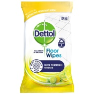 Dettol Extra Large Floor Wipes 10pk - Lemon & Lime