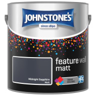 Johnstone's Feature Wall Matt Paint 2.5L - Midnight Sapphire