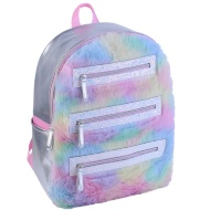 Fluffy Rainbow Backpack